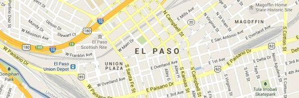 El Paso Texas Map