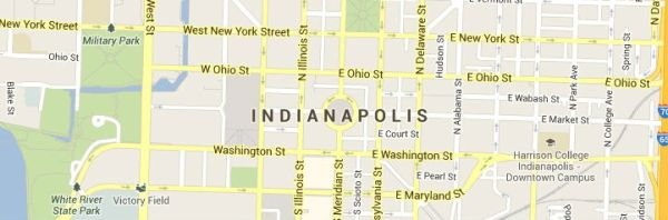 Indianapolis Indiana Map