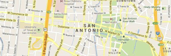 San Antonio Texas Map