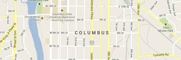 Columbus Georgia Map