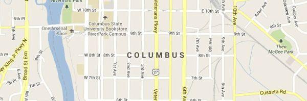 Columbus Georgia Map