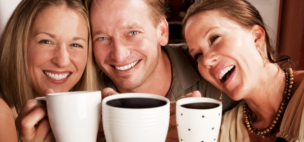 Employees drinking fresh coffee at the office