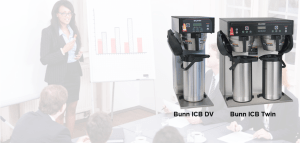 Slider image 2 for our Equipment Page. Bunn ICB DV and Twin model coffee makers.