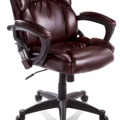 True Innovations Office Chair Where To Rent Covers Near Me Depot Mid Back Bonded Leather Massage 41 H X 25 1