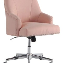 Desk Chair Pink Musical Chairs Music For Kids Task Office Depot Serta Leighton Home Mid Back