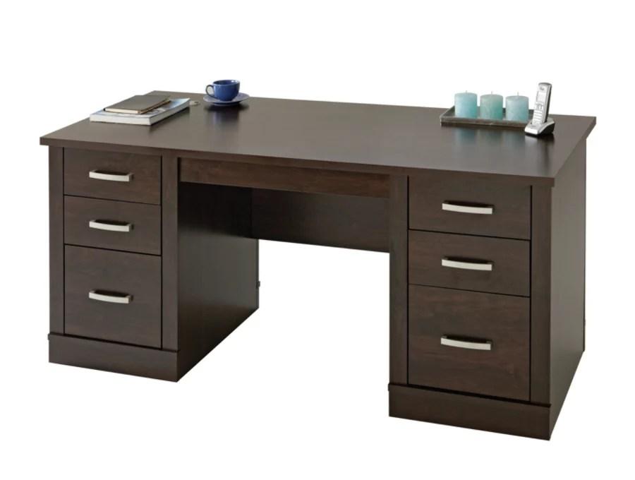 Sauder Office Port Executive Desk Dark Alder by Office