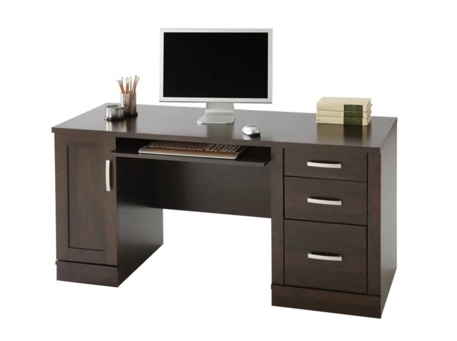 Sauder Office Port Computer Credenza Dark Alder by Office
