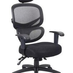 Officemax Ergonomic Chair Headrest Add On Boss Mesh Multifunction Mid Back Task With Black By Office Depot &