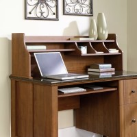 Sauder Appleton Hutch For Computer Desk Sand Pear by