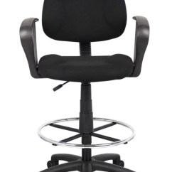 Drafting Chairs With Arms Lafuma Chair Accessories Shop Office Depot Officemax Boss Stool Blackchrome