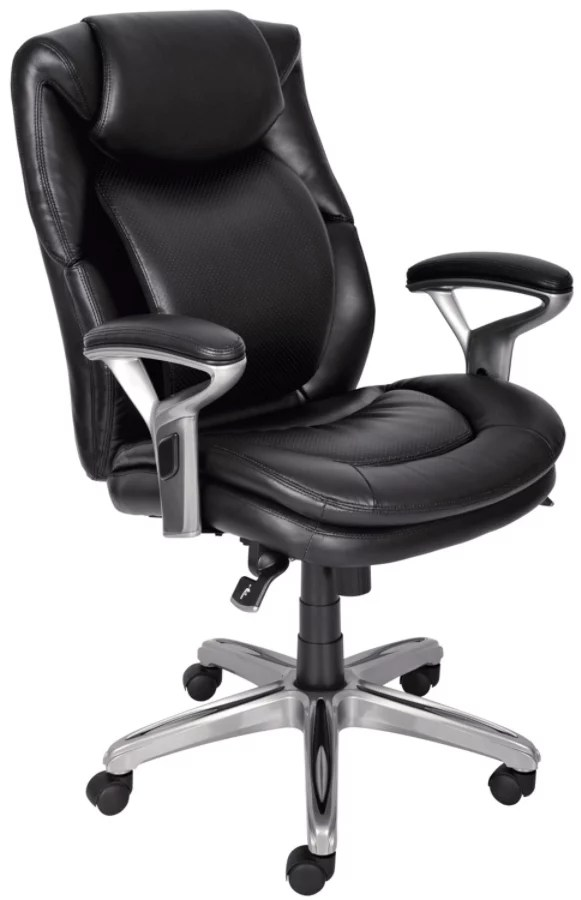 serta bonded leather executive chair antique rocking chairs air health and wellness mid back office