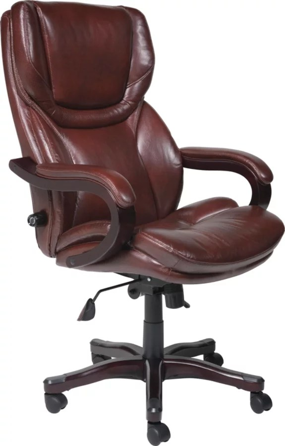 big and tall office chairs rocking chair for nursery serta executive eco conscious bonded leather brown