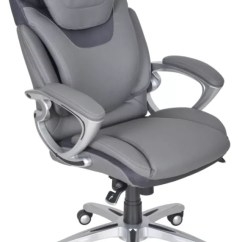 Light Grey Chair George Jones Rocking Serta Air Health And Wellness Executive Office Bonded Leather