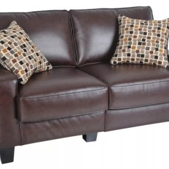 Serta Bonded Leather Convertible Sofa Deep Seating Sectional Rta Monaco Collection Loveseat 35 H X 60 W 32