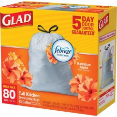 Glad Tall Kitchen Drawstring Trash Bags Remodeling Cabinets Odorshield With Febreze Freshness 13