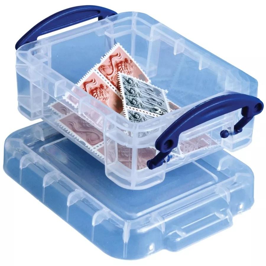 Really Useful Box Plastic Storage Box Liter Clear Office Depot Really Useful Plastic Storage Clear