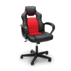Office Depot Mesh Chair Nautica Beach Chairs And Umbrella Essentials By Ofm Racing Style Mid Back Gaming Redblack & Officemax