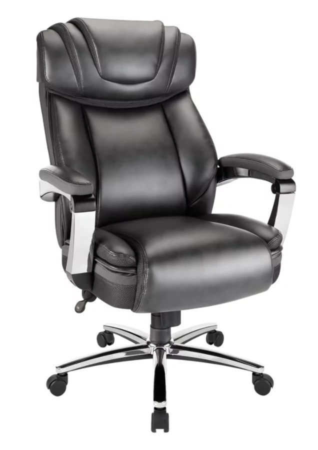 big mans chair lounge pool realspace axton and tall bonded leather high back dark gray