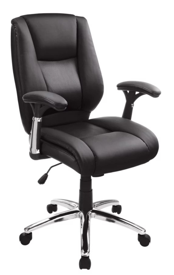 office chair leather cheap clear realspace eaton bonded mid back black depot
