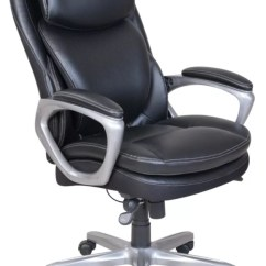 Office Chair Cushion Deck Chairs For Boats Serta Smart Layers Air Arlington Black Depot Executive Pewter