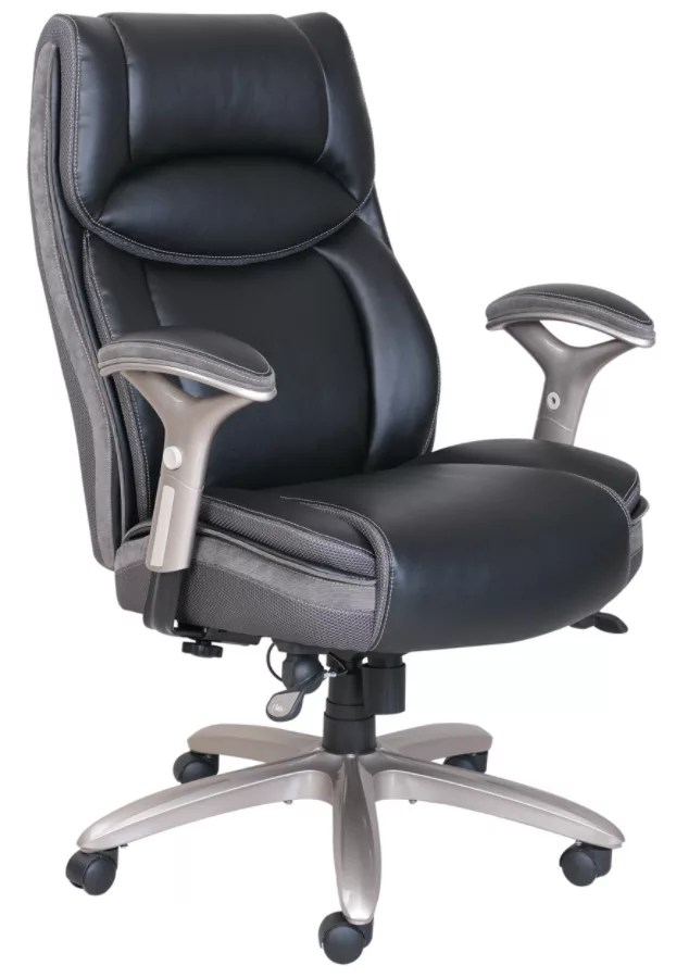 rolling desk chair with locking wheels contemporary leather dining room chairs check out our office depot officemax serta smart layers jennings super task