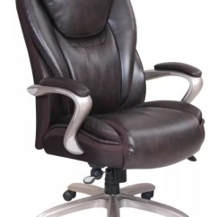 Posture Executive Leather Chair Gym Pedal Exerciser Serta Smart Layers Hensley Big And Tall Roasted Chestnut Satin