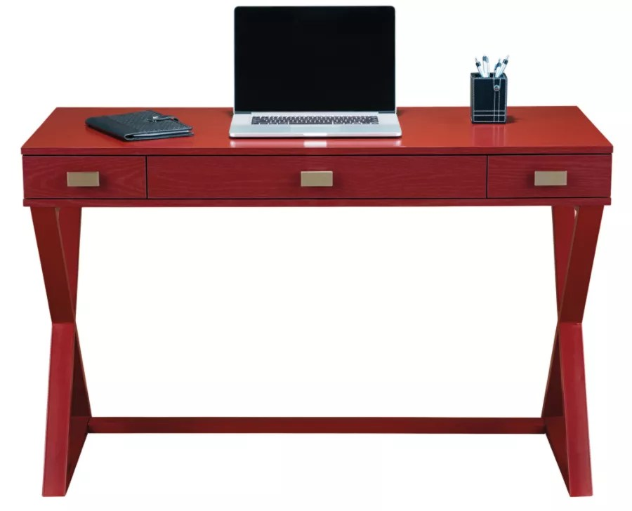 See Jane Work Kate Writing Desk Red Office Depot