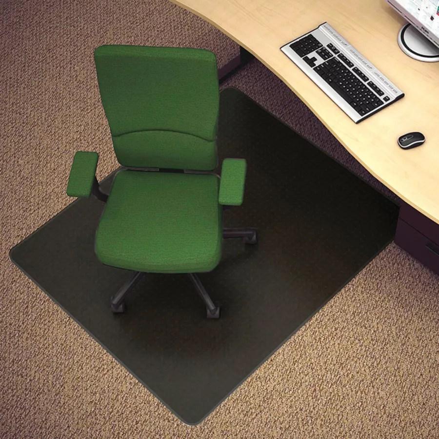 office chair mat swing table deflect o black vinyl for hard floors 45 w x 53 d