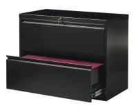 WorkPro 36 W 2 Drawer Steel Lateral File Cabinet Black by ...
