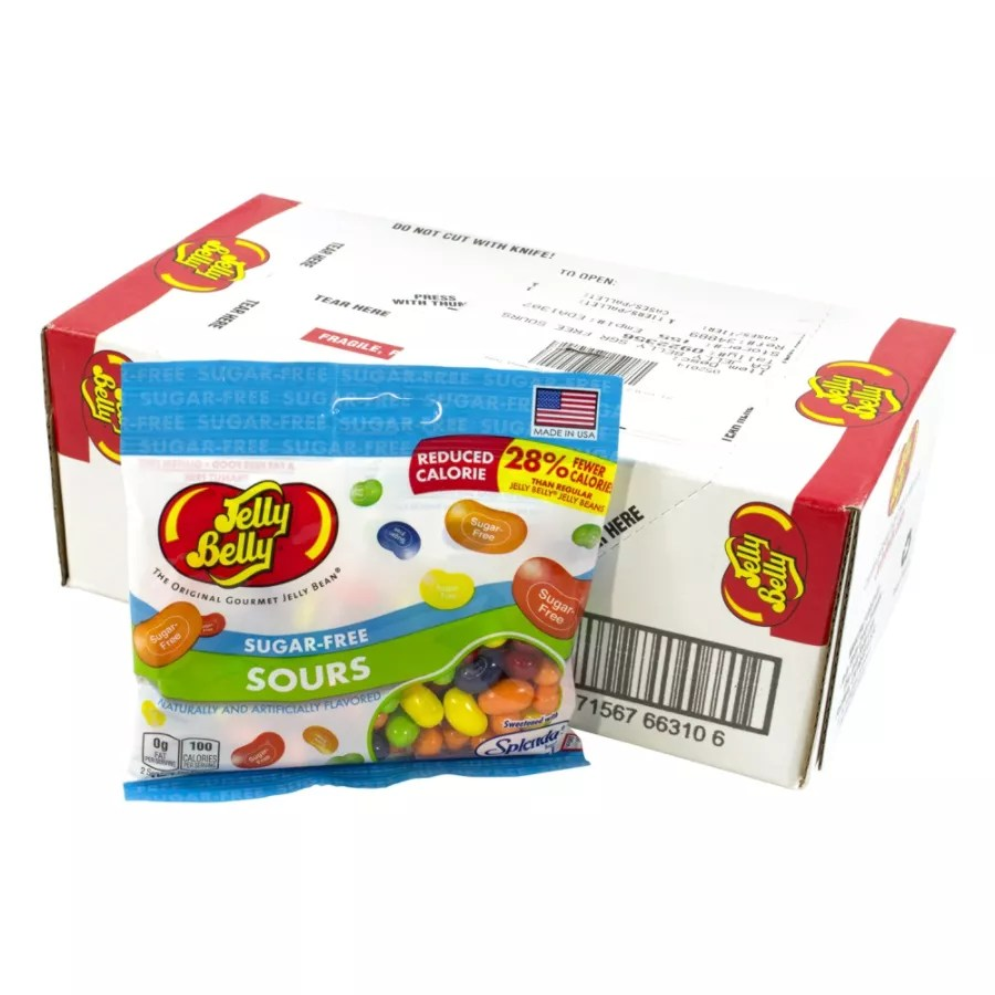 Jelly Belly Sugar Free Sours 28 Oz Individual Bags Pack