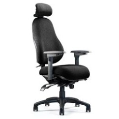 Office Chair With Headrest Piston Neutral Posture 8500 High Back 48 H X 26 W Mouse Over To Zoom