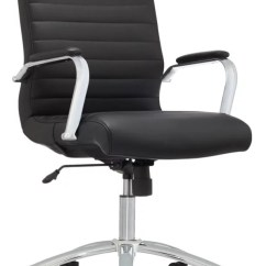 Office Chair Leather Hans Wegner Shell Realspace Modern Comfort Winsley Black Depot Series Bonded Mid Back