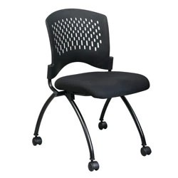 folding desk chair wooden lynchburg office star with casters 34 h x 24 12 w 22 d black depot