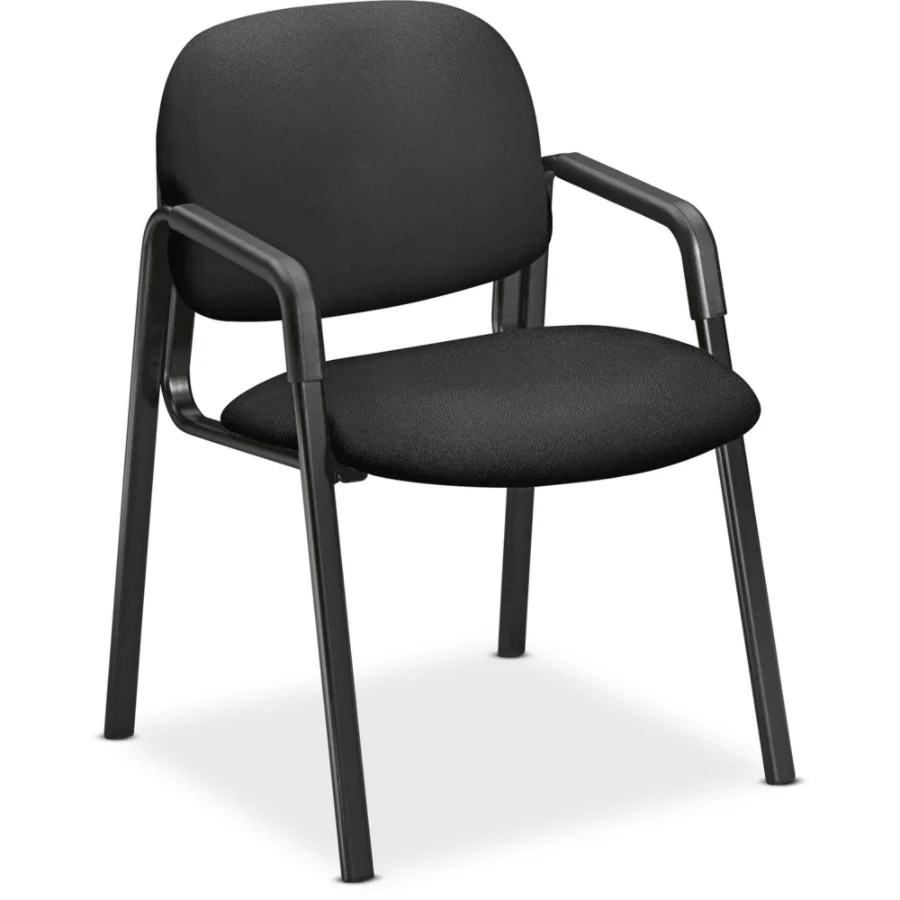 hon guest chairs steel chair size solutions seating arms black seat back