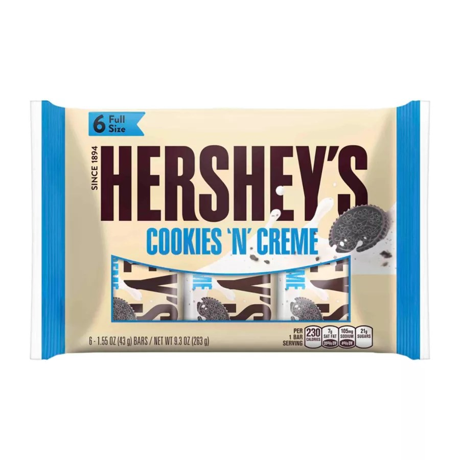 Hersheys Cookies N Cr me 155 Oz 6 Bars Per Bag Pack Of 2