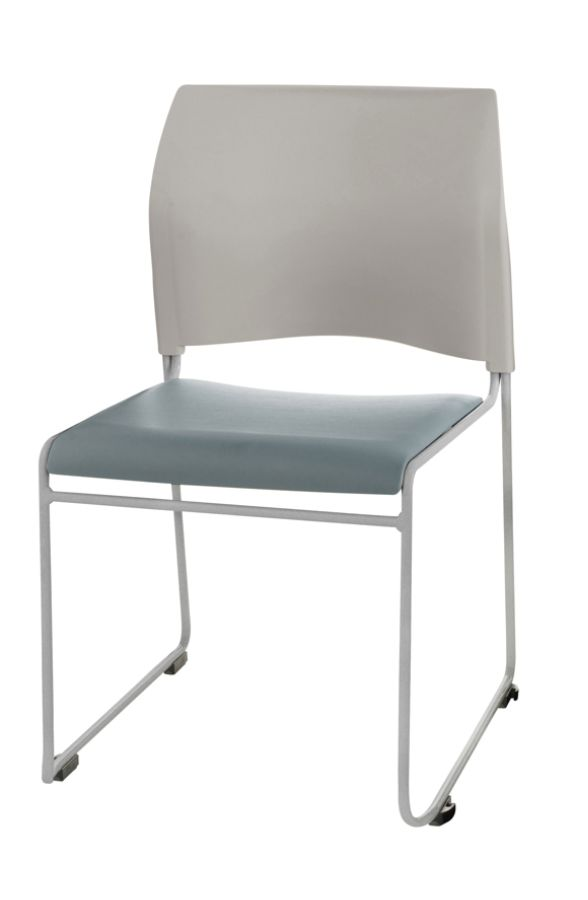 public seating chairs bath tub chair for baby national the cafetorium stackable blue gray chrome set