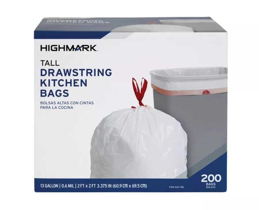 kitchen bags floating shelves highmark trash 13 gallons box of 200 office depot