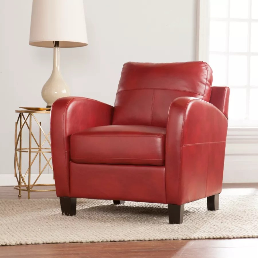 leanback lounger chairs kitchen table chair cushions southern enterprises bolivar lounge redbrown by office depot