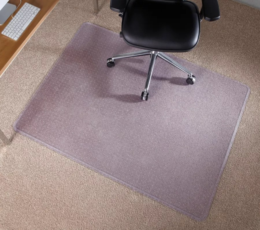 desk chair mat for high pile carpet whiskey barrel pub table and chairs deflect o execumat heavy duty vinyl chairmat carpets