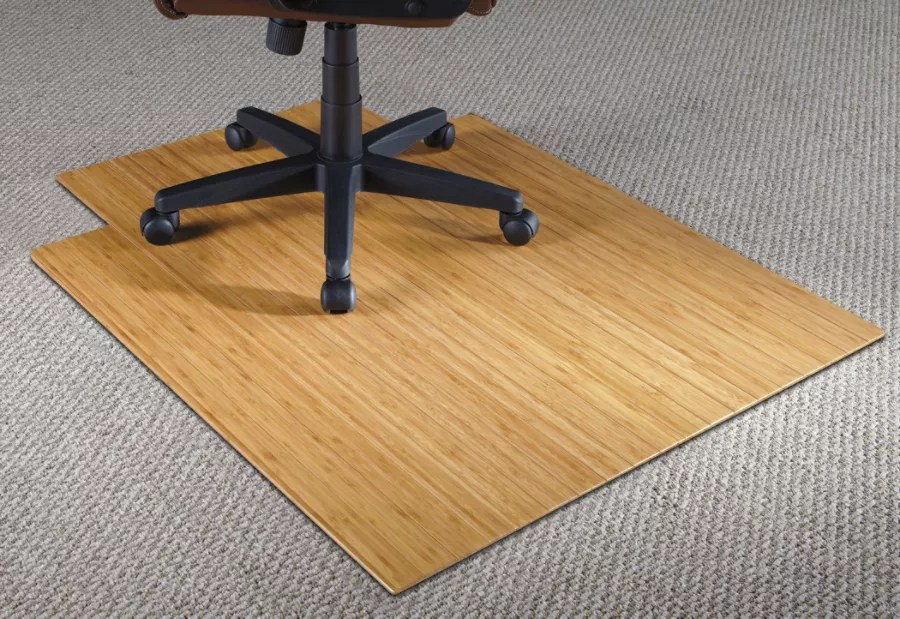 bamboo chair mat bedside commode realspace 36 w x 48 d 316 thick natural office depot 3