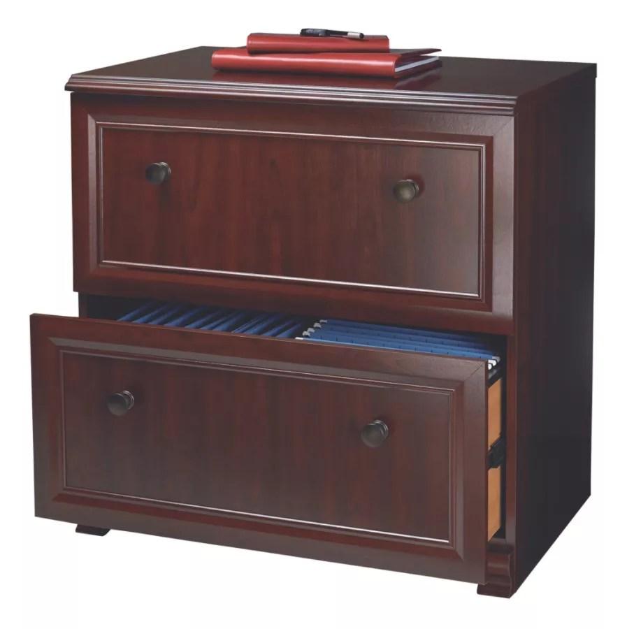 Realspace Broadstreet Cabinet Cherry  Office Depot