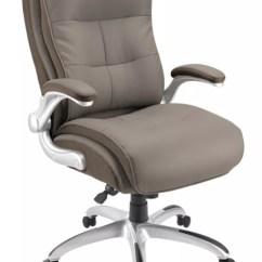 Big And Tall Desk Chairs Used All Purpose Styling Realspace Ampresso Chair Taupesilver Office Depot Bonded Leather High Back Taupe Silver