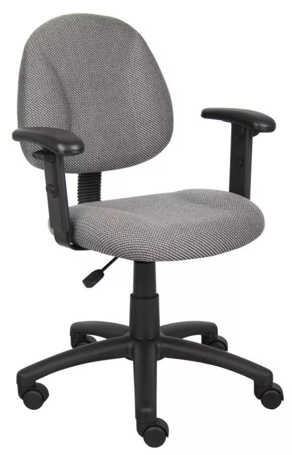 posture deluxe chair zoella hanging boss fabric mid back task grayblack by office