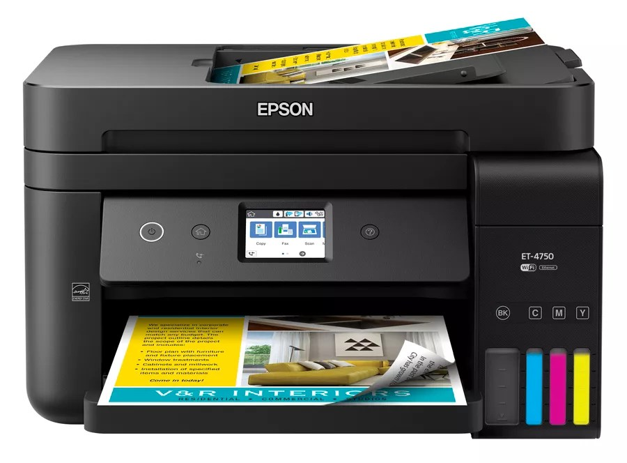 Print epson workforce et ecotank wireless also color inkjet all in one rh officedepot