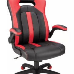 Desktop Gaming Chair Club With Wheels Realspace High Back Redblack Office Depot Red Black