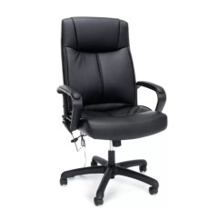 Back Massage Chair Windsor Chairs For Sale Ofm Essentials Leather High Blacksilver By Office