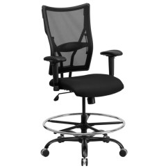 Mesh Drafting Chair Herman Miller Sizes Chart Flash Furniture Hercules Big And Tall With