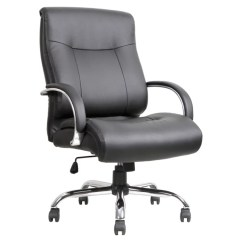 Chair 1 2 Swing Malta Lorell Big And Tall Deluxe Bonded Leather Mid Back Black