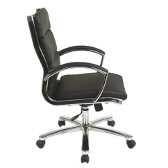 Office Star Chairs Seagrass Arm Chair Worksmart Executive Faux Leather Mid Back