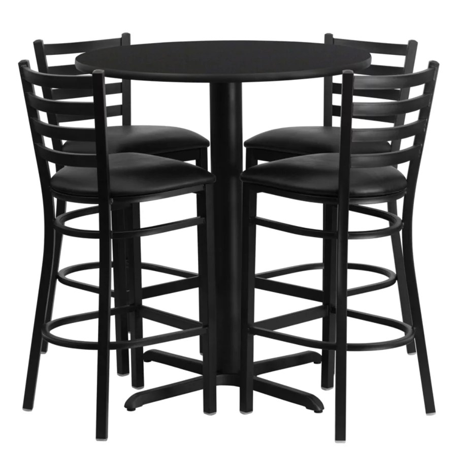 bar height tables and chairs target bungee flash furniture round table set with 4 metal stools black office depot